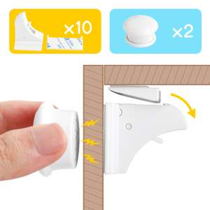 Levin Baby Safety Cabinet Locks Set Magnetic Cupboard Locks for Cupboard and Drawers (10 Locks,2 Keys) £13.59 (Prime) Sold by EasyLinKEU and Fulfilled by Amazon.