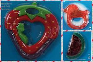 Dream baby water filled soother/teether- watermelon, strawberry, textured duck shape- 65p Add on Items / Minimum £20 Spend @ Amazon (Sold by Little Pumpkin Baby Boutique / Fulfilled by Amazon)