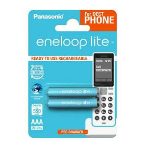 Eneloop 550mAh AAA Batteries 2pk - £2.49 Prime / £6.48 Non Prime at Amazon