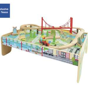 Carousel wooden train table £14.96 in store @ Tesco (arena coventry)