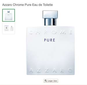 Azzaro Chrome Pure Eau de Toilette 100ml £31.49 C+C @ John Lewis