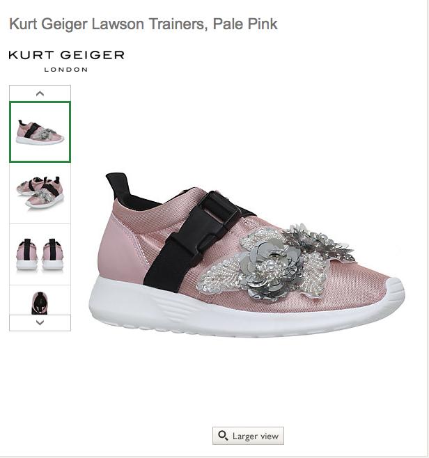 Kurt Geiger Lawson Trainers, Pale Pink £39 C+C @ John Lewis