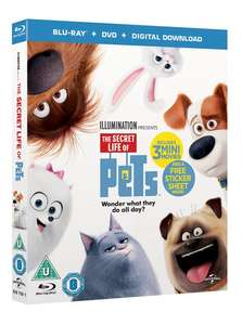 The Secret Life of Pets Triple Play BLU-RAY, DVD & DIGITAL COPY £4.59 including free postage using code SIGNUP10 @ Zoom.co.uk