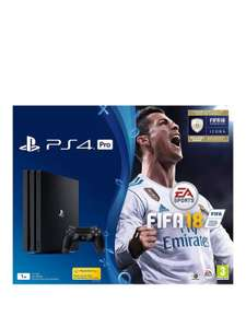 PS4 PRO Black - FIFA 18 for £353.98 delivered @ Very