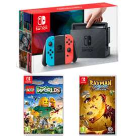 Nintendo Switch with 2 games - £299.99 @ GAME