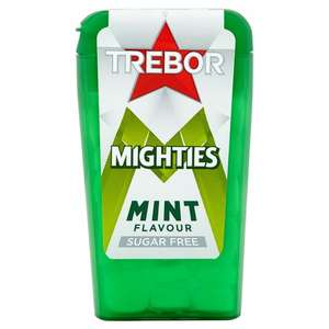 Trebor Mighties Sugar Free Mints 12.5G - only 10p at Heron Foods + other bits