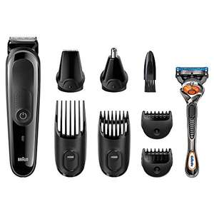 Braun MGK3060 Multi Grooming Kit - 8-in-one beard and hair trimming kit - with nose and precision trimmer attachments and Gillette Fusion ProGlide Razor - now £22.99 using £2 voucher (RRP £ 44.99) @ Amazon