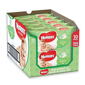20 packs of Natural Care Huggies wipes £10 @ amazon PRIME