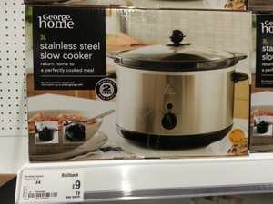 Asda 3l stainless steel slow cooker, was £14 now £9
