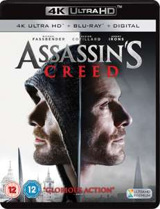 Assassins Creed 4K movie 14.99 @ Zavvi free delivery. (other 4k titles available at the same price)