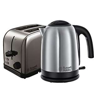 Russell Hobbs 18780 Futura 2 Slice Toaster and Russell Hobbs 20070 Cambridge Kettle - Stainless Steel Silver ONLY £33.48 @ Amazon Prime with Free UK Delivery