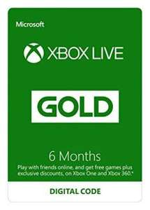 [Xbox] 6 Months Xbox Live For £14.99 (When Purchasing Selected Games At Amazon)
