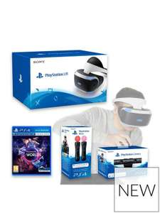 PlayStation VR Headset With PlayStation Camera, VR Worlds And Move Controller Twin Pack - £319.99 @ Very w/ Code