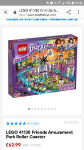 Lego friends amusement park £62.99 (or £52.99 if collected in-store for the 27th sept)  instead of £99.99 - smyths toys.