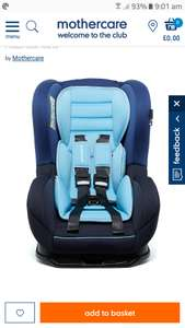 Blue Madrid Car Seat £50 at Mothercare