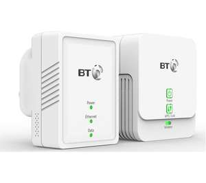 BT Essentials Wireless Powerline Adapter Kit - Twin Pack - £14.99 @ Currys