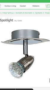 Norte single spotlight at Homebase £2 collect instore