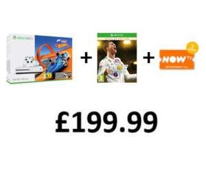 Xbox One S 500GB with Forza Horizon 3 & Hot Wheels DLC + FIFA 18 Ronaldo Edition + Now TV 2 Month Entertainment Pass for £199.99 INSTORE  now aval @ Game (+ Overwatch GOTY for another £20)