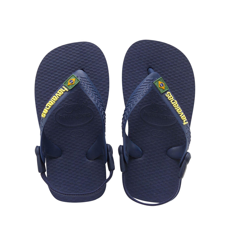 Havaianas Baby Brasil Logo Navy Yellow Flip Flop - £6 (C+C) @ Sunuva