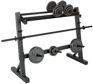 Pro Fitness Weight Rack. Holds dumbbells, weight plates and bar. £29.99 @ Argos