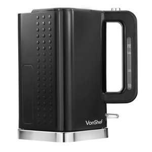 VonShef 3000W 1.7 Litre Black & Chrome Cordless Electric Rapid Boil Jug Kettle Ebay £18.99 @  DOMU UK Ebay