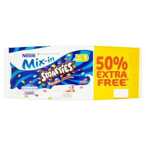 Nestlé Smarties Mix-In Vanilla Flavour Yogurt with Mini Smarties (6 x 120g =720g) was 4 for £2.00 now 6 for £2.00 so 50% free @ Iceland