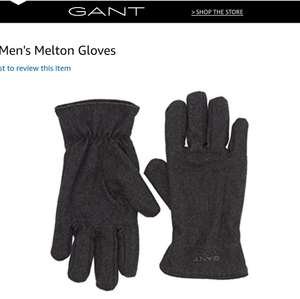 Gant men's grey Melton gloves size M - L £10.50 Prime / £14.49 Non Prime @ Amazon