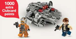 Collect 1000 extra Clubcard points when you spend £60 or more on selected LEGO @ Tesco