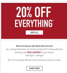 20% off everything officially starts tomorrow online & in store.@H.Samuel