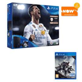 PlayStation 4 500GB + FIFA 18 + Destiny 2 or Overwatch GOTY + NOW TV 2 Months Entertainment Pass £219.99 @ Game
