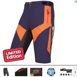 Endura MTR (mountain bike Race) shorts Navy/Orange now £29.99 S,M,Xl,XXL @ Evans cycles
