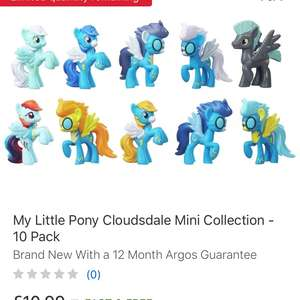 My Little Pony Cloudsdale Mini Collection - 10 Pack £10.99 Del at Argos Ebay