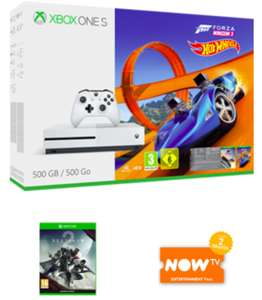 Xbox One S Forza Horizon 3 Hot Wheels 500GB Bundle with Destiny 2 and NOW TV Entertainment 2 Month Pass £199.99 @ GAME Online