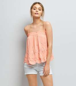 Orange Embroidered Cami Top - New Look - was £12.99 now £1 (+£3.99 Del for orders under £45)