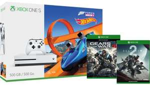 Xbox One S 500GB Console – Forza Horizon 3 Hot Wheels Bundle + Gears of War 4 & Destiny 2 £199.99 at Microsoft Store
