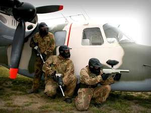 Paintballing with lunch for £10 up to 10 people - livingsocial / Allied Paintball
