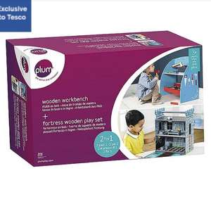 PLUM WOODEN CASTLE AND WORKBENCH BUNDLE £40 at Tesco