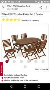 Wilko Garden Dining Set - 6 Seater £40 in-store at Wilko