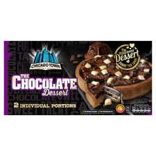 Chicago Town 2 Chocolate Dessert Pizzas 2 X 140G Half Price now £1 instore / online @ Tesco Grocerie