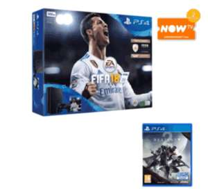 Fifa 18 Bundled PS4 Slim with an extra controller + Destiny 2 and a 2 Month Entertainment Pass from NowTV for £249.99 @ GAME