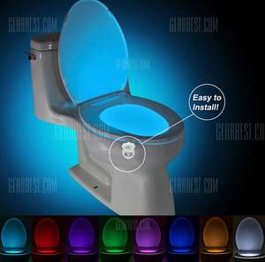 SMART Bathroom Toilet Nightlight Led Seat (with ahem! Motion Sensor) Lamp 16 Color  (x2) - £5.40 at GearBest (free delivery)