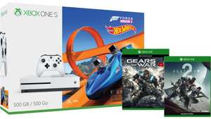 Xbox One S 500GB Console – Forza Horizon 3 Hot Wheels Bundle + Destiny 2 + Gears of War 4 + Halo Wars 2 £199 @ Microsoft Store