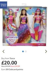 Barbie Dreamtopia Fairytale Doll 3pk (Exclusive) - £20 @ Tesco's online and in store