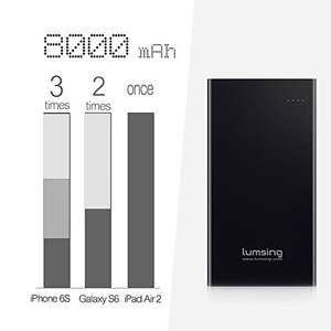 Lumsing 8000mAh Power Bank, with free 6 port charger. £9.99, Bitfrost UK, Amazon (Prime or £12.98 non-Prime)