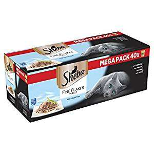 Sheba Cat Food - Poultry or Fish - 40 pouches for £8.40 with S&S voucher @ Amazon