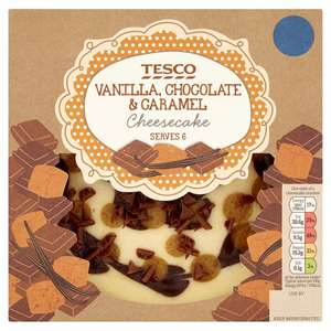 Tesco Vanilla, Chocolate and Caramel Cheesecake (540g) Half Price was £3.50 now £1.75 @ Tesco