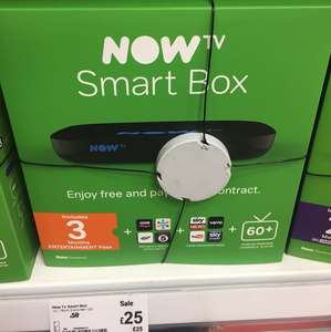 NOW TV Smart Box with 3-Month Entertainment Pass was £50 now £25 @ Asda, Southgate, London