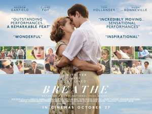 Free Cinema Tickets  - Breathe - 4 Oct 2017 at 7:30pm  - BFI with American Express