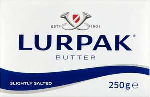 Lurpak Butter, Slightly Salted or Unsalted (250g) Only £1.50: Save 45p @ Sainsbury's