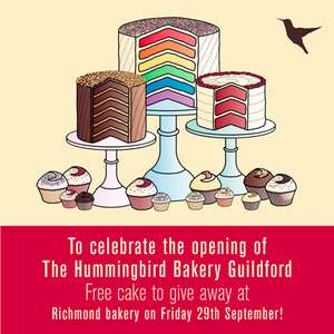 Free Cake Giveaway on Friday 29th Sept @ Hummingbird Bakery Richmond